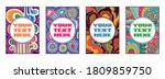 psychedelic poster templates... | Shutterstock .eps vector #1809859750