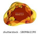 autumn leaves background.... | Shutterstock .eps vector #1809861190