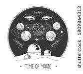modern magic witchcraft card... | Shutterstock .eps vector #1809864313