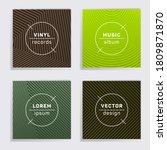 retro vinyl records music album ... | Shutterstock .eps vector #1809871870