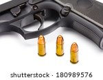 Close Up Of 9 Mm. Bullets With...