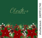 christmas party invitation... | Shutterstock .eps vector #1809911740