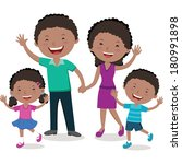 cheerful family. happy family... | Shutterstock .eps vector #180991898