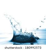 water splash and bubbles....   Shutterstock . vector #180992573