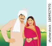 illustration of rural indian... | Shutterstock .eps vector #1809927970