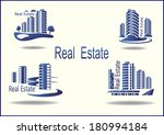 set of vector icons real estate  | Shutterstock .eps vector #180994184