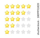 vector star icons. golden stars ...