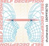 self deception poster art with...   Shutterstock .eps vector #1809958750