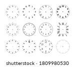 mechanical clock face dials... | Shutterstock .eps vector #1809980530