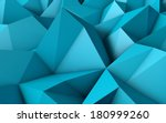 abstract blue low poly 3d... | Shutterstock . vector #180999260