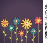 beauty postcard in dark tones.... | Shutterstock . vector #180999536