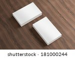 blank business cards with soft... | Shutterstock . vector #181000244