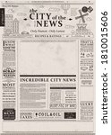 newspaper page. daily news old...   Shutterstock .eps vector #1810015606