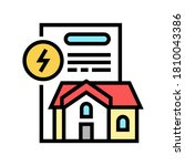 house electricity contract... | Shutterstock .eps vector #1810043386