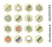 thin line icons for vegetables. ...