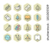 thin line icons for medical.... | Shutterstock . vector #181005509