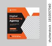 digital marketing social media... | Shutterstock .eps vector #1810057060