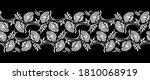seamless black and white lotus... | Shutterstock .eps vector #1810068919