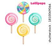 bright colored lollipop. sweet... | Shutterstock .eps vector #1810069066