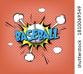 comic bang with expression text ...   Shutterstock .eps vector #1810069549