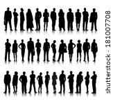 Collection of Standing Business People Vector | Shutterstock vector #181007708
