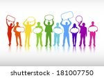 vector of colorful business... | Shutterstock .eps vector #181007750