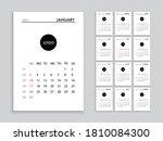 calendar 2021 template planner... | Shutterstock .eps vector #1810084300