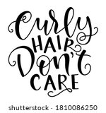 curly hair don't care   vector... | Shutterstock .eps vector #1810086250