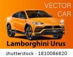 vector orange race sport car....   Shutterstock .eps vector #1810086820