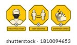 vector yellow sign with icons... | Shutterstock .eps vector #1810094653