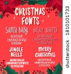 set of christmas fonts. holiday ... | Shutterstock .eps vector #1810101733