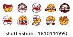cartoon color pizzeria label... | Shutterstock .eps vector #1810114990