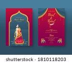 indian wedding invitation card... | Shutterstock .eps vector #1810118203