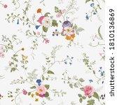 vintage floral seamless patern. ... | Shutterstock .eps vector #1810136869