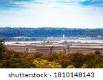 Us Pentagon And Potomac River...