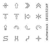 arrows line icons set  outline...