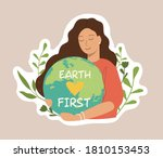 ecology colorful sticker.... | Shutterstock .eps vector #1810153453