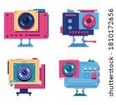 action camera vector cartoon... | Shutterstock .eps vector #1810172656
