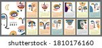 wall vertical calendar for 2021 ... | Shutterstock .eps vector #1810176160