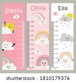 Kids Height Chart. Vector...