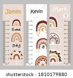 kids height chart. vector...   Shutterstock .eps vector #1810179880