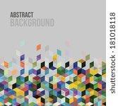 awesome  modern geometric... | Shutterstock .eps vector #181018118