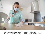 Cleaning Woman Working With...
