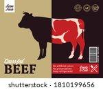 vector beef packaging or label... | Shutterstock .eps vector #1810199656