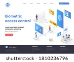 biometric access control...   Shutterstock .eps vector #1810236796