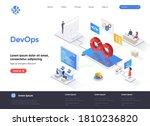 devops isometric landing page....   Shutterstock .eps vector #1810236820