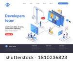 developers team isometric... | Shutterstock .eps vector #1810236823