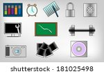 icons set   Shutterstock .eps vector #181025498