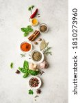 Various spices  herbs and...