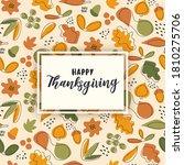 happy thanksgiving greeting... | Shutterstock .eps vector #1810275706